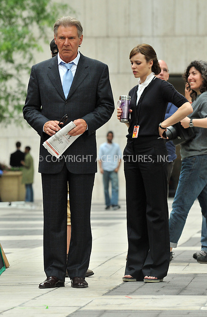 WWW.ACEPIXS.COM . . . . .  ....June 23 2009, New York City....Actors Harrison Ford and Rachel McAdams on the set of the new movie 'Morning Glory' on the Upper West Side of Manhattan on June 23 2009 in New York City....Please byline: AJ Sokalner - ACEPIXS.COM..... *** ***..Ace Pictures, Inc:  ..tel: (212) 243 8787..e-mail: info@acepixs.com..web: http://www.acepixs.com