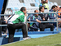 alvaro cervera(entrenador racing) luis garcia(entrenador getafe)