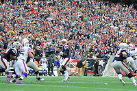 Sunday, October 2, 2016: New England Patriots quarterback Jacoby Brissett (7) passes the ball during the NFL game between the Buffalo Bills and the New England Patriots held at Gillette Stadium in Foxborough Massachusetts. Buffalo defeats New England 16-0. Eric Canha/Cal Sport Media
