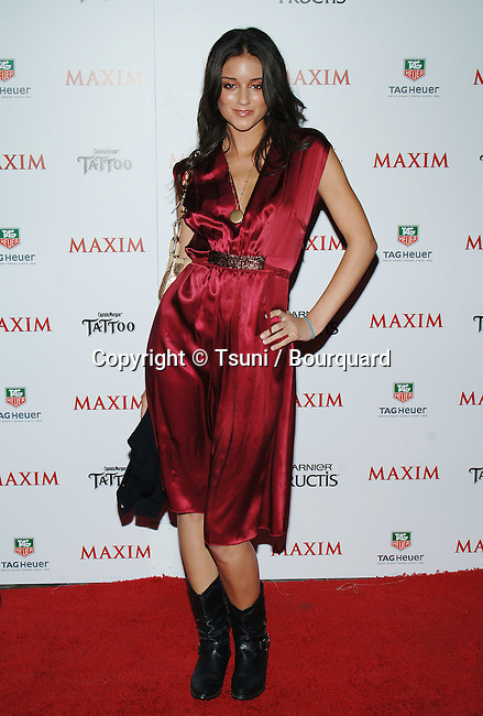 Caroline D'Amore arriving at the Maxim Magazine 100 List of the hottest women party in Los Angeles. May 12, 2005.