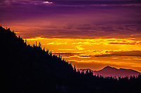 Mountains aglow