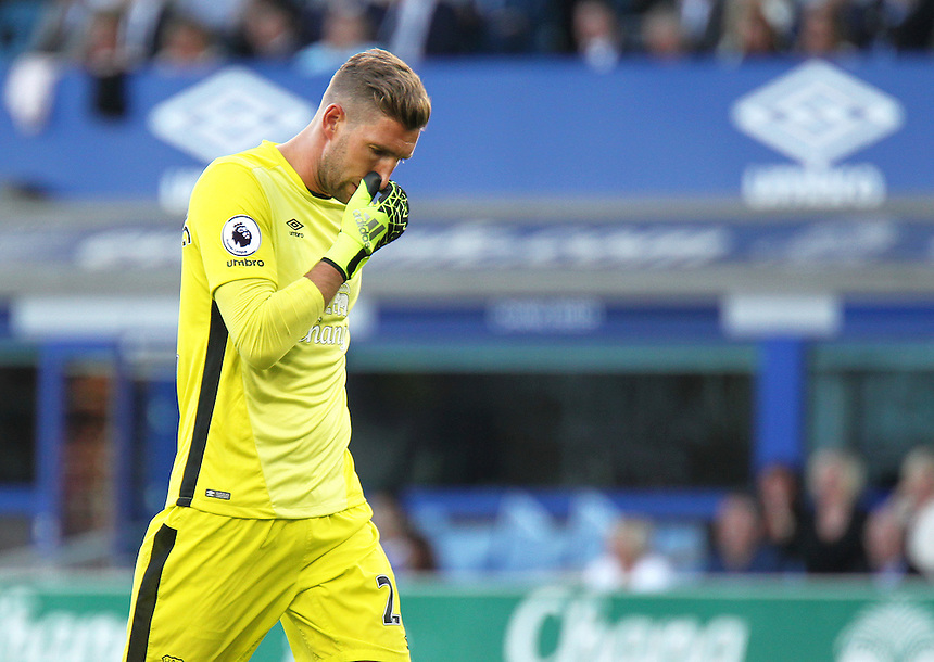 Everton's Maarten Stekelenburg <br /> <br /> Photographer Rich Linley/CameraSport<br /> <br /> The Premier League - Everton v Middlesbrough - Saturday 17th September 2016 - Goodison Park - Liverpool<br /> <br /> World Copyright &copy; 2016 CameraSport. All rights reserved. 43 Linden Ave. Countesthorpe. Leicester. England. LE8 5PG - Tel: +44 (0) 116 277 4147 - admin@camerasport.com - www.camerasport.com