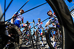 Groupama-FDJ at sign on before Stage 6 of the 78th edition of Paris-Nice 2020, running 161.5km from Sorgues to Apt, France. 13th March 2020.<br /> Picture: ASO/Fabien Boukla | Cyclefile<br /> All photos usage must carry mandatory copyright credit (© Cyclefile | ASO/Fabien Boukla)