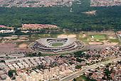 Belem, Para State, Brazil. Aerial view of Mangueirao stadium - Estádio Estadual Jornalista Edgar Campos Proença.