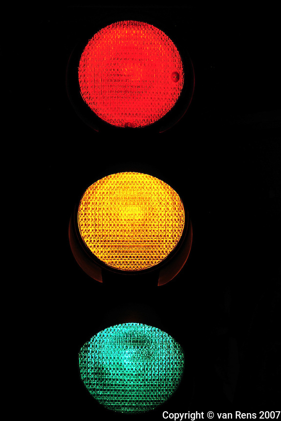 Mix signals from a stop light.