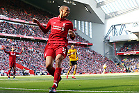 Liverpool's Joel Matip<br /> <br /> Photographer Rich Linley/CameraSport<br /> <br /> The Premier League - Liverpool v Wolverhampton Wanderers - Sunday 12th May 2019 - Anfield - Liverpool<br /> <br /> World Copyright © 2019 CameraSport. All rights reserved. 43 Linden Ave. Countesthorpe. Leicester. England. LE8 5PG - Tel: +44 (0) 116 277 4147 - admin@camerasport.com - www.camerasport.com