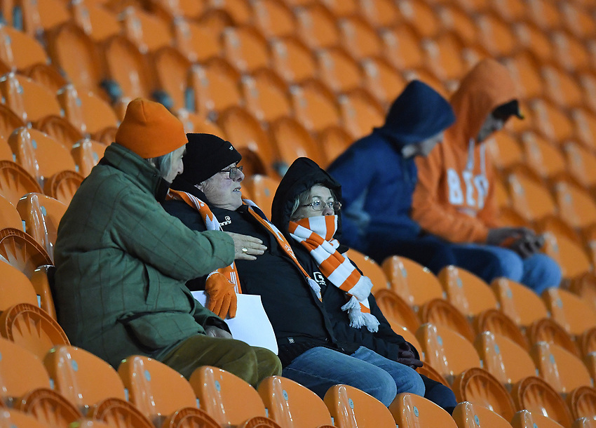 Blackpool fans<br /> <br /> Photographer Dave Howarth/CameraSport<br /> <br /> The EFL Sky Bet League One - Blackpool v Wycombe Wanderers - Tuesday 29th January 2019 - Bloomfield Road - Blackpool<br /> <br /> World Copyright © 2019 CameraSport. All rights reserved. 43 Linden Ave. Countesthorpe. Leicester. England. LE8 5PG - Tel: +44 (0) 116 277 4147 - admin@camerasport.com - www.camerasport.com