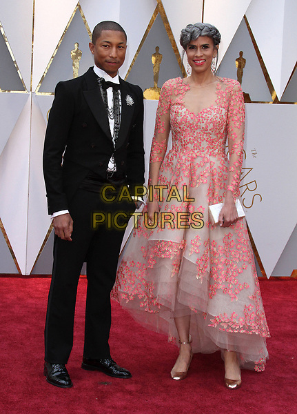 26 February 2017 - Hollywood, California - Pharrell Williams, Mimi Valdez. 89th Annual Academy Awards presented by the Academy of Motion Picture Arts and Sciences held at Hollywood &amp; Highland Center. <br /> CAP/ADM<br /> &copy;ADM/Capital Pictures