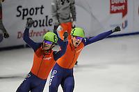 SCHAATSEN: DORDRECHT: Sportboulevard, Korean Air ISU World Cup Finale, 11-02-2012, Freek van der Wart NED (63), Sjinkie Knegt NED (62), ©foto: Martin de Jong