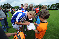 """VOETBAL: DE KNIPE: 21-06-2014, Sportpark """"De Jister"""", 1e training SC Heerenveen met de nieuwe hoofdtrainer/coach Dwight Lodeweges, Morten Thorsby (NOR), ©foto Martin de Jong"""