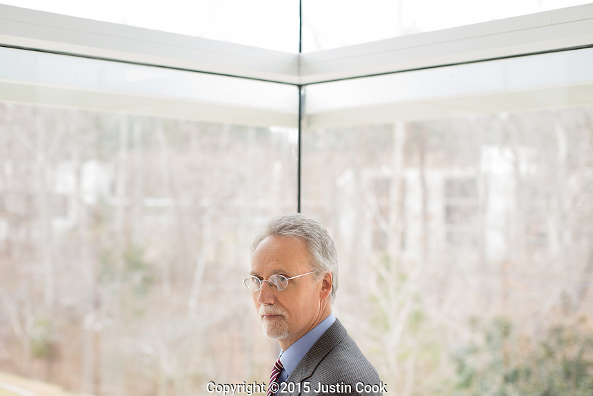 Dr. Bill Boulding, Dean of the Duke University Fuqua School of Business. Duke's MBA program was ranked number one by Bloomburg Business Week. A portrait of Dr. Boulding shot in Durham, N.C. on Tuesday, March 3, 2015. (Justin Cook for The Wall Street Journal)<br /> <br /> RANKINGS<br /> <br /> Story Summary: how and whether business-school rankings affect the financial health and popularity of M.B.A. programs. For this, we&rsquo;d like to shoot photo of Bill Boulding, the dean of Duke&rsquo;s Fuqua Business School, which just rose to the top of Businessweek&rsquo;s rankings earlier this year.