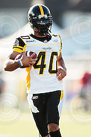 Aug 3, 2007; Hamilton, ON, CAN; Winnipeg Blue Bombers play the Hamilton Tiger-Cats at Ivor Wynne Stadium. The Tiger-Cats defeated the Blue Bombers 43-22. Mandatory Credit: Ron Scheffler. Pictured here is Hamilton Tiger-Cats defensive back (40) Ryan Glasper.