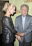 Joely Richardson and playwright William Luce attend the Off-Broadway Opening Night Press reception for 'The Belle of Amherst'  at the Westside Theatre on October 19, 2014 in New York City.