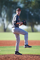 Dawson Evenson (54), from Clatskanie, Oregon, while playing for the Giants during the Under Armour Baseball Factory Recruiting Classic at Red Mountain Baseball Complex on December 28, 2017 in Mesa, Arizona. (Zachary Lucy/Four Seam Images)