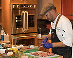 Chef Christian Christensen from SUP during the Reno Bites Chef Showdown at Czyz's Appliance's gourmet kitchens in Reno, October 14, 2017.