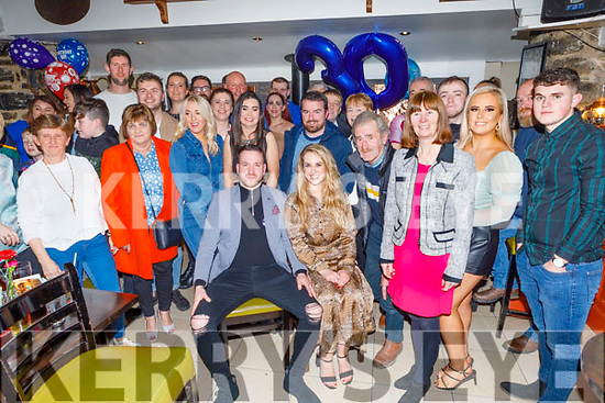 Michael Griffin from Kilmoyley enjoying his surprise 30th birthday party in the Brogue Inn on Saturday<br /> Seated: Michael and Mary Griffin.