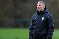 Ryan Giggs Manager of Wales during the Wales Training Session at The Vale Resort, Hensol, Wales, UK. Monday 19 November 2018