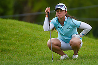 Nuria Iturrioz (ESP) looks over her putt on 1 during the round 3 of the KPMG Women's PGA Championship, Hazeltine National, Chaska, Minnesota, USA. 6/22/2019.<br /> Picture: Golffile | Ken Murray<br /> <br /> <br /> All photo usage must carry mandatory copyright credit (© Golffile | Ken Murray)