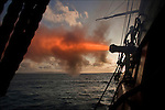 Tall Ship Bounty fires her canon