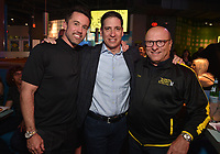 """HOLLYWOOD - SEPTEMBER 24: Rob McElhenney, Eric Schrier and Thomas Lofaro attend the post-party at Dave & Busters following the  premiere of FXX's """"It's Always Sunny in Philadelphia"""" Season 14 on September 24, 2019 in Hollywood, California. (Photo by Stewart Cook/FXX/PictureGroup)"""