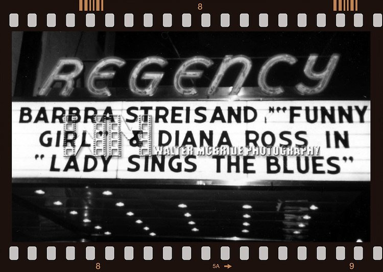 Two Super Stars in a Movie Musical Double Feature<br /> Barbra Streisand in &quot; FUNNY GIRL &quot; &amp; Diana Ross in &quot; LADY SINGS THE BLUES &quot; at the Regency Theatre in <br /> in New York City.<br /> 1980