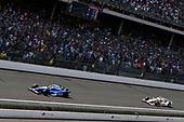 Verizon IndyCar Series<br /> Indianapolis 500 Race<br /> Indianapolis Motor Speedway, Indianapolis, IN USA<br /> Sunday 28 May 2017<br /> Takuma Sato, Andretti Autosport Honda, Helio Castroneves, Team Penske Chevrolet<br /> World Copyright: Scott R LePage<br /> LAT Images<br /> ref: Digital Image lepage-170528-indy-10488