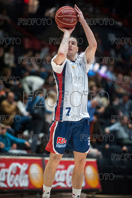 VALENCIA, SPAIN - OCTOBER 31: Mcgrath during ENDESA LEAGUE match between Valencia Basket Club and Rio Natura Monbus Obradoiro at Fonteta Stadium on   October 31, 2015 in Valencia, Spain