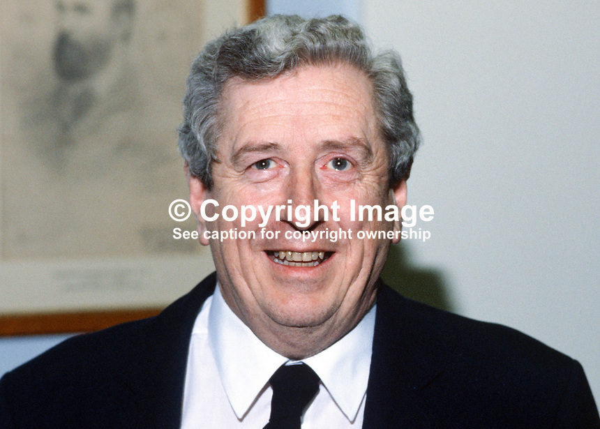Garret Fitzgerald, Prime Minister, an Taoiseach, Rep of Ireland, 19850023GF.<br />
