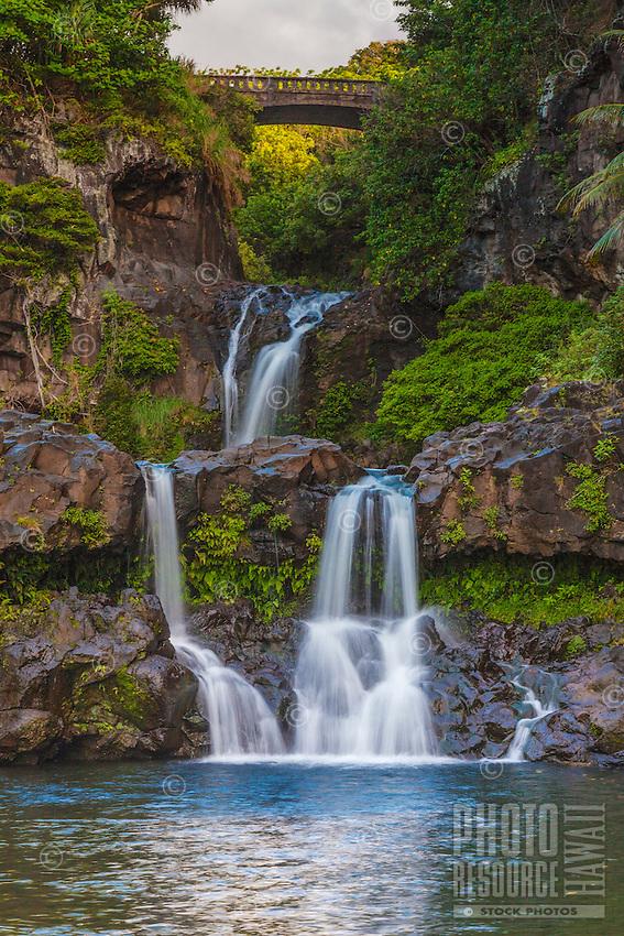 Seven Sacred Pools, also known as 'Ohe'o Gulch, Haleakala National Park, Hana, southeastern Maui.
