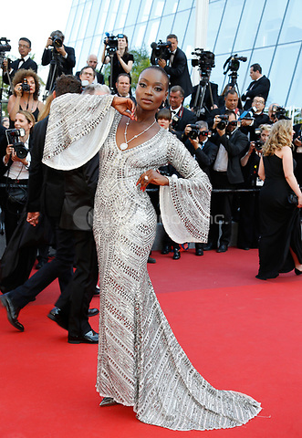 Miriam Odemba arrives to attend the closing ceremony of the 70th Annual Cannes Film Festival at Palais des Festivals in Cannes, France, on 28 May 2017. <br />