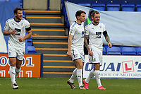James Norwood of Tranmere Rovers is congratulated after scoring the opening goal during Tranmere Rovers vs Dagenham & Redbridge, Vanarama National League Football at Prenton Park on 11th November 2017