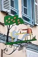 Europe/France/Picardie/80/Somme/Baie de Somme/ Saint-Valery-sur-Somme : détail habitat