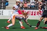 AMSTELVEEN - Yibbi Jansen (OR)  tijdens de hoofdklasse competitiewedstrijd hockey dames,  Amsterdam-Oranje Rood (5-2). COPYRIGHT KOEN SUYK