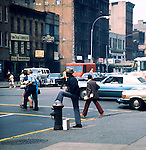 Waiting for traffic lights. Series of images from New York between 1975 -1977. New York,USA.