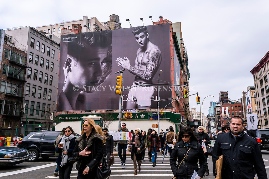 New York, NY - Sexy advertising with pop star Justin Bieber for Calvin Klein underwear