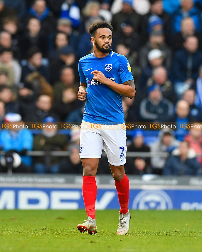 Anton Walkes of Portsmouth during Portsmouth vs Blackpool, Sky Bet EFL League 1 Football at Fratton Park on 12th January 2019