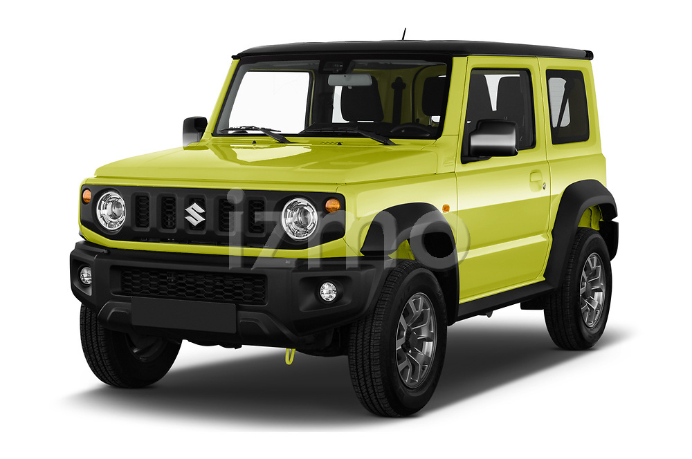 2019 Suzuki Jimny GLX 5 Door SUV Angular Front stock photos of front three quarter view
