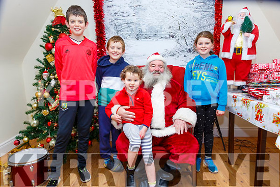 Santa At The Dandy Lodge: The Kelly Family from Irremoe, Listowel, Ronan< Daithi, Aisling & Niamh attending Santa, Cave at the Dandy Lodge, Listowel town park on Saturday last.