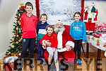 Santa At The Dandy Lodge: The Kelly Family from Irremoe, Listowel, Ronan< Daithi, Aisling & Niamh attending Santa, Cave at the Dandy Lodge, Listowel town park on Saturday last.