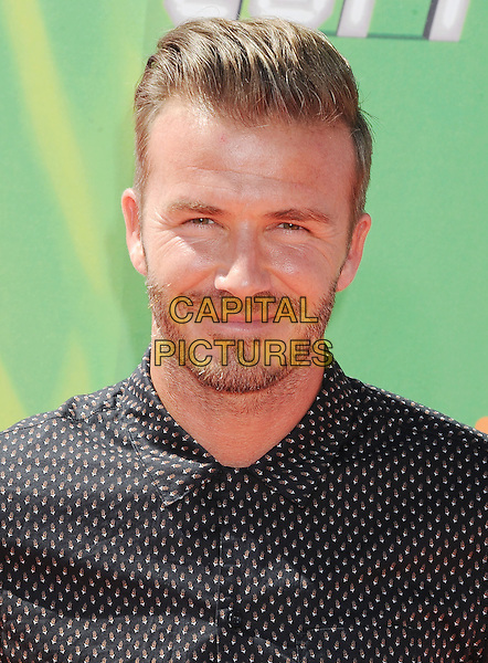 LOS ANGELES, CA- JULY 17: Former soccer player David Beckham attends Nickelodeon Kids' Choice Sports Awards 2014 at Pauley Pavilion on July 17, 2014 in Los Angeles, California.<br /> CAP/ROT/TM<br /> &copy;Tony Michaels/Roth Stock/Capital Pictures