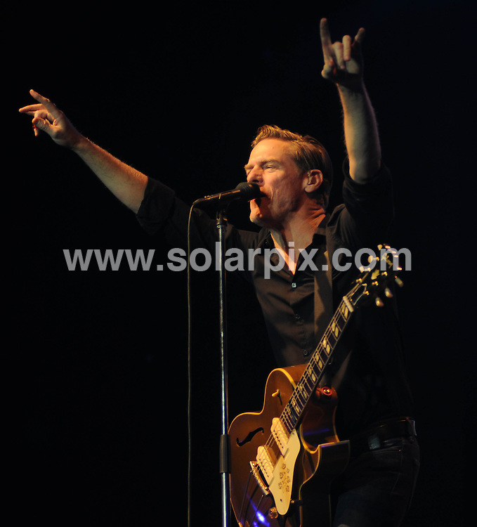 **ALL ROUND PICTURES FROM SOLARPIX.COM**                                             **WORLDWIDE SYNDICATION RIGHTS**                                                                                  Caption: With a crowd of over 15,000 swaying to the music, Mumbai was at its energetic and spirited best as Canadian rocker Bryan Adams belted out hits after hits at his rocking concert here. He sang around 20 songs but the audience didn't seem to have had enough of him. They went berserk as Adams sang Summer of 69 and asked the audience to sing in between. Dressed in black, Adams said - I came first in 1994 and this is the fifth time I am performing in Mumbai. It's one of my best shows. Mumbai, India. 12 February 2011                                                                              This pic: Bryan Adams                                                                                             JOB REF: 12922 SJA       DATE: 12_02_2011                                                           **MUST CREDIT SOLARPIX.COM OR DOUBLE FEE WILL BE CHARGED**                                                                      **MUST AGREE FEE BEFORE ONLINE USAGE**                               **CALL US ON: +34 952 811 768 or LOW RATE FROM UK 0844 617 7637**