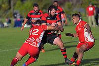 Action from the Horowhenua-Kapiti premier club rugby union match between Toa and Waikanae at Te Atiawa Park in Paraparaumu Beach, New Zealand on Saturday, 18 May 2019. Photo: Dave Lintott / lintottphoto.co.nz