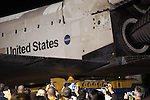 October 13, 2012 - The Space Shuttle Endeavour makes an overnight stop at Baldwin Hills Crenshaw Plaza on its final move through the streets of Los Angeles to its new home at the California Science Center in Exposition Park.