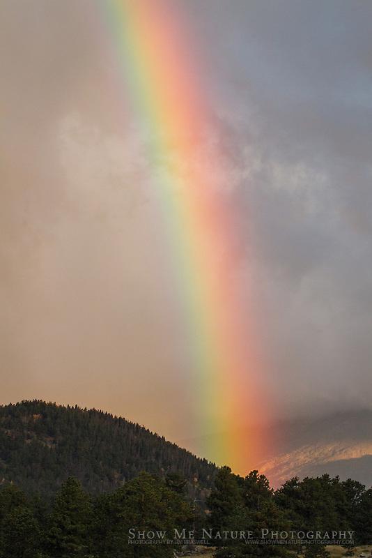 Rainbow over Rocky Mountain NP