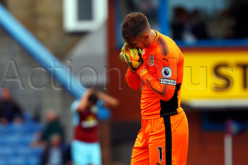 19th August 2017, Turf Moor, Burnley, England; EPL Premier League football, Burnley versus West Brom; Tom Heaton of Burnley reacts after Burnley miss a chance to equalise
