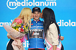 Giulio Ciccone (ITA) Trek-Segafredo retains the Mountains Maglia Azzurra at the end of Stage 5 of the 2019 Giro d'Italia, running 140km from Frascati to Terracina, Italy. 15th May 2019<br /> Picture: Gian Mattia D'Alberto/LaPresse | Cyclefile<br /> <br /> All photos usage must carry mandatory copyright credit (© Cyclefile | Gian Mattia D'Alberto/LaPresse)