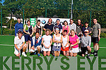 TOURNAMENT: Competing in the Aherns BMW Tennis weekend tournament at the Tralee Tennis club on Sunday front l-r: Jack Stack, Chris Jun, Amanda Brolly, Alison Walsh, Maura Hayes, Siobhan O Nuallain and Stephen Roche. Back l-r: Fiona Spring, Danielle O'Sullivan, Triona Daly, Timmy Hennessey, Rose Daly, Ann Mooney, Ray Maroney, Shane O'Sullivan, Ann Courtney and Gordon Lunn.