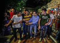 """SAO PAULO, SP, 29 JULHO 2012 - ELEICOES 2012 - CELSO RUSSOMANNO - O candidato do PRB a prefeitura de Sao Paulo Celso Russomanno danca """"Eu Quero Tchu, Eu quero Tcha""""  durante Festa Julina Clube Atletico Juventus no bairro da Mooca regiao leste da capital paulista, neste domingo, 29, (FOTO: WILLIAM VOLCOV / BRAZIL PHOTO PRESS)."""