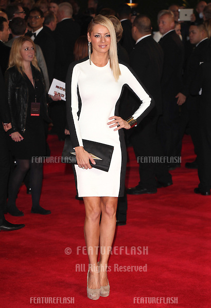 Tess Daly arriving for the Royal World Premiere of 'Skyfall' at Royal Albert Hall, London. 23/10/2012 Picture by: Alexandra Glen / Featureflash