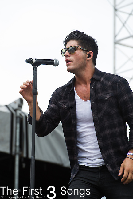 Dan Smyers of Dan + Shay performs on Day Two of the 2014 CMA Music Festival in Nashville, Tennessee.
